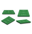 set of 3d football field on white isolated vector image
