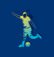soccer player hitting ball design vector image vector image