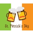 st Patricks day hipster beer glasses over Irish vector image vector image