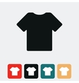 t shirt icon vector image vector image