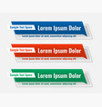 three lower third business wide banners set vector image vector image