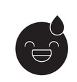 tired emoji black concept icon tired emoji vector image vector image