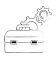 tool box with gears vector image vector image