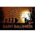 trick or treating on Halloween vector image vector image