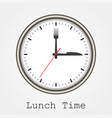 watch at lunch on a white background vector image vector image