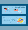 water activity sunbathing and swimming vector image vector image