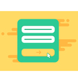 Web Template of Computer Login Form vector image vector image