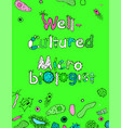 well-cultured microbiologist image vector image