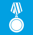 winning medal icon white vector image