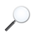 Realistic loupe Magnifying Glass with black handle vector image