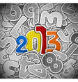 2013 year from a paper vector image vector image