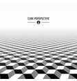 abstract cubic perspective vector image vector image