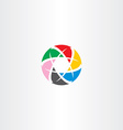 abstract logo circle business tech colorful icon vector image vector image