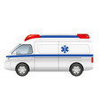 ambulance isolated on a white background vector image vector image