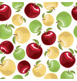 apple set in cartoon style vector image vector image