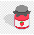 bank strawberry jam isometric icon vector image vector image