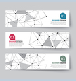 banners set with abstract wireframe vector image