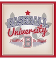 baseball university badge vector image vector image