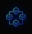 blockchain blue icon block chain vector image vector image