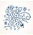 Blue floral design element vector image