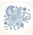 Blue floral design element vector image vector image