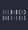 bracket braces parentheses typography set of vector image vector image