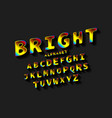 bright creative high detail font vector image
