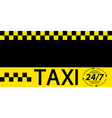 Business card taxi banner vector image