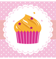 Cute party cupcake card vector image