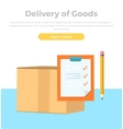 Delivery of Goods Banner Packing Product Design vector image vector image