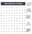 digital line icons signs set outline vector image vector image