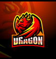 dragon mascot esport logo d vector image vector image
