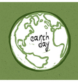 earth day card design vector image vector image
