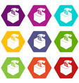 election box icons set 9 vector image vector image