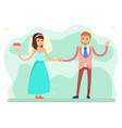 first dance bride and groom wedding party vector image vector image