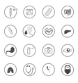 Flat medical icons elements vector image
