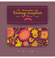 Floral banner for life events Greeting floral vector image