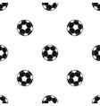 football soccer ball pattern seamless black vector image vector image