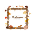 frame with cartoon mushrooms vector image vector image