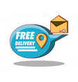 free delivery design vector image