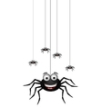 funny family of spider cartoon for you design vector image vector image