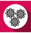 gear design cog icon white background vector image vector image