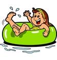 Girl Floating Inner Tube vector image vector image