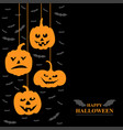 halloween funny horror pumpkins and vampires vector image vector image