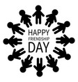 happy friendship day man and woman pictograph icon vector image