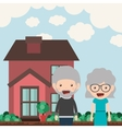 happy grandparents design vector image