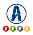 highway lane letter a symbol graphic design vector image vector image