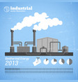 industrial plant template vector image vector image