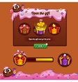 Interface game design theme candy vector image