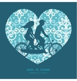 Light blue swirls damask couple on tandem vector image